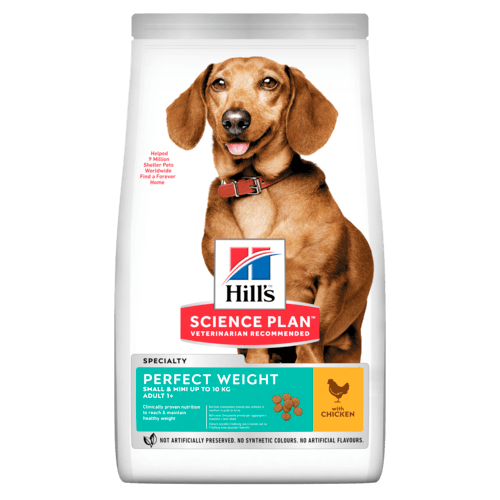 Hill's™ Science Plan™ Perfect Weight hundefoder til voksne hunde, små hunderacer